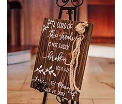 Three Strands Sign Alternative Wedding Unity 12X16